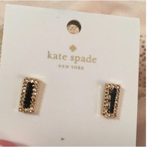 kate spade Jewelry - kate spade raising the bar black gold stud earring
